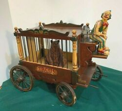 Vintage Circus Wagon With Bear And Clown