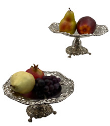 Pair Of Sterling Silver Centerpiece Compotes / Tazzas By Theodore Starr