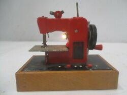 Vintage Electric Little Modiste Childs Sewing Machine Toy Red Works