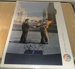 Pink Floyd Wish You Were Here Signed Poster Roger Waters Proof