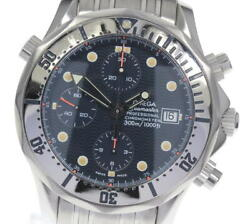 Omega Seamaster300 2598.80 Chronograph Navy Dial Automatic Menand039s Watch_604259