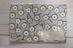 A6 Hobonichi Notebook Fabric Covers Folios Blue Flowers $12.00
