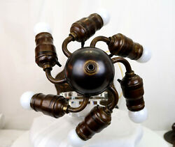 6 Light Ball Socket Cluster For Antique Lamps Or Hanging Mosaic Shades –antique