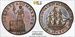 1795 Talbot Allum And Lee Copper Colonial Cent 1c Pcgs Ms 64 Bn