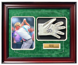 John Daly Signed And Game Played / Worn Golf Glove Framed Jsa Coa Photo Autograph