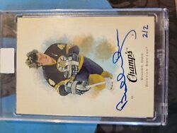 1x - 2015-16 Ud Buybacks - Bobby Orr Auto 2/2 Two Of Two - Champs Ssp