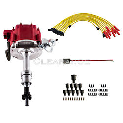 Performance Hei Red Ignition Distributor W/cap And Rotor And Spark Plug Wire Set
