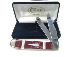 Case Xx Knife Red And Gold Jasper 11101 Trapper Mother Of Pearl Accents 2015