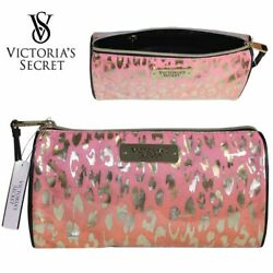 NEW VICTORIA#x27;S SECRET COSMETIC BAG MAKEUP CASE ANIMAL PRINTS UNIQUE $9.95