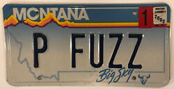 Vanity Peach Fuzz License Plate Police Pedal Cocktail Alcohol Drink Face Hair