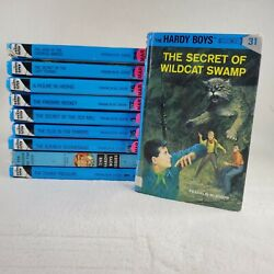 The Hardy Boys Series Books Lot Set Of 10 Hardcover Franklin W. Dixon Ex Library