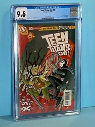 Cgc 9.6 1st Appear Red X Teen Titans Go 23 Comic Stunning Dc 2005