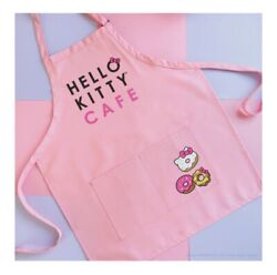 Brand New In Package Hello Kitty Grand Cafe Exclusive Pink Bow Room Apron