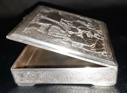 Museum Worthy Antique/persian/middle East Antique -silver Box-hallmarked Lahiji