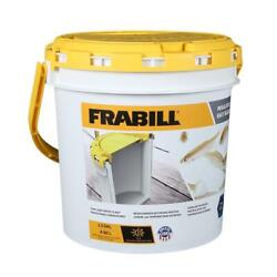 New Frabill 4822 1.3 Gallon Insulated Bait Bucket With Clip-on Aerator 14331