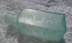 1840s Open Pontil Batchelor's Hair Dye No.1 Bottle 170 Years Old Dug Condition