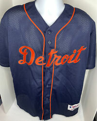 Vintage Majestic Authentic Detroit Tigers Jersey Mens Xl Made In Usa