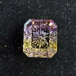 15.40 Cts Certified Hand Carved Natural Ametrine Fantasy Cut 17x15x7 Mm Carving
