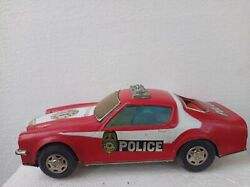 Vintage Rare Collectible Small Highway Police Patrol Modern Tin Toy Car