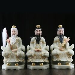 16and039and039 White Marble Colored Drawing Folk Three Old Man Supreme God Of Taoism