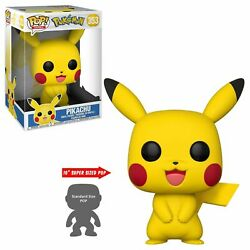 Funko Pop Vinyl Games Pokemon Large 10and039and039 Pikachu 353