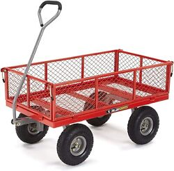 Steel Utility Cart With Removable Sides 800-lbs Capacity Garden Cart