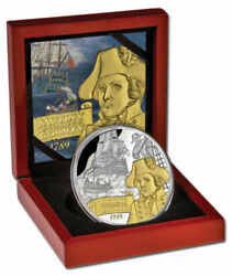 2014 Niue 10 Mutiny On The Bounty 5oz Silver Proof Coin Rare Limited Edition