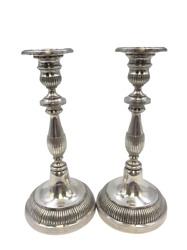 Pair Of 19th Century Latin American Sterling Silver Candlesticks