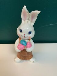Vintage Chalkware Easter Bunny Rabbit Made In Japan Mcm 1950's 8