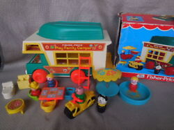 Vintage Fisher Price Toy Play Family Camper Original Box 1972 Collectible Toys