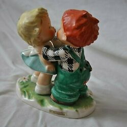Hummel Goebel The Stolen Kiss 1957 Nyj18 Very Rare Hand Painted Collectible