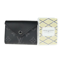 Louis Vuitton Card Case Gi0198 Pvc Leather Noir With Unused Playing Cards