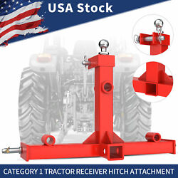 Tractor Trailer Hitch Gooseneck Receiver 3 Point Category 1 Hay Bales Attachment