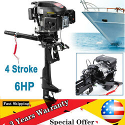 Hangkai 6hp 4stroke Outboard Motor Fishing Boat Engine Air Cooling Air Cooling