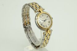 Authentic Panthere Vendome Round 29mm Watch 18k Gold Quartz Inner Clip