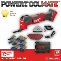 Milwaukee M18fmt-0x Fuel 18v Multi-tool With Case And Smart 8 Piece Blade Set
