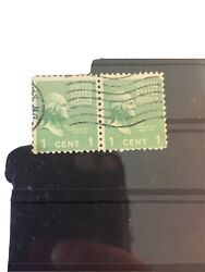 2 Stamps George Washington 1 Cent 1789-1797 United States Collectors