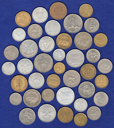 French Colonies 41x Various Coins 1950and039s-1980and039s Ref. T3608