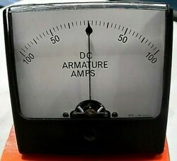 Simpsonmodel 1327100-0-100 Dc Armature Amps / 50-0-50mv Old Stock Free Ship