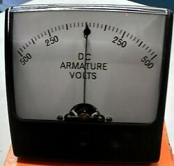 Simpsonmod 1327500-0-500 Dc Armature Volts / 500vdc-0-500 Old Stock Frship
