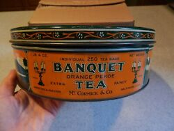 Mccormick And Co. Orange Pekoe Tea One Pound Four Ounces Large Tin With Lid
