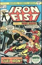 Iron Fist 1 His First Solo Series Art By John Byrne 1975 Mvs Stamp Intact