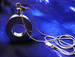 Vintage Sterling Silver Taxco Perfume Bottle Necklace Chain Pendant