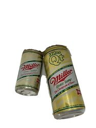 2 Miller High Life Pull Tab Beer Cans 32 Oz And 12 Oz Milwaukee Wi. Champagne Beer