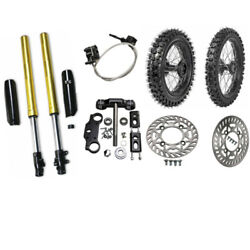 80/100-12 60/100-14 Tire Wheel + Front Fork Trail Bike Triple Clamp Complete Set