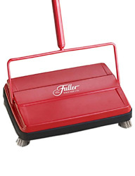 Fuller Brush Electrostatic Carpet And Floor Sweeper - 9 Cleaning Path - Red