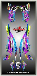 Can-am Ds 450 X Mx Semi Custom Graphics Kit Dotted