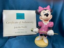 Wdcc - Minnie Mouse - Join The Parade -part Of The Mickey Mouse Club Series