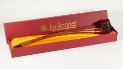 Lucienne 15 Long Churchwarden Wooden Tobacco Rustic Pipe With 9mm Filter