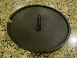 Antique Cast Iron Dutch Oven Coal Top Lid Spider Skillet Early 12 Inch